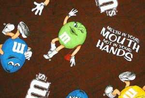 M&M trademarked slogan highlighting its preservative methods.