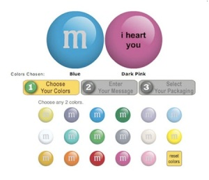 Customize your M&M's!