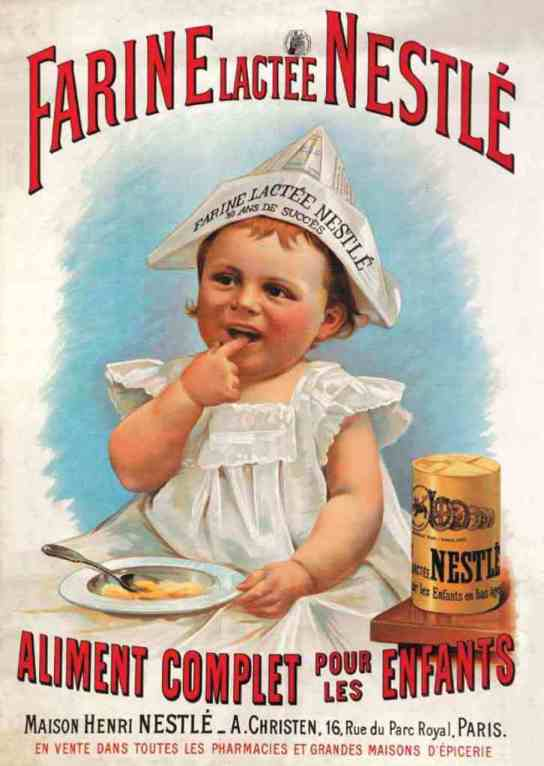 Henri Nestlé's Farine lactée, a combination of cow's milk, wheat flour, and sugar