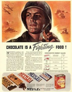 war chocolate poster