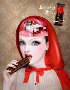 """Red Riding Hood"" created by Natalie Shau for the 2009 Cadbury Bournville ""Deliciously Dark Thoughts"" ad campaign (Added to show the scope of the campaign)"