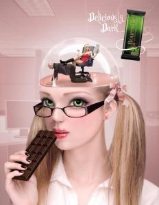 """Secretary"", by Natalie Shau for the 2009 Cadbury Bournville ""Deliciously Dark Thoughts"" Ad Campaign"