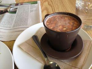 hot chocolate and cheese La Taguara