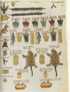 Image from the Codex Mendoza, Albert R. Mann Library, Cornell University