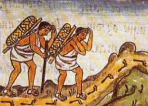 Pochteca Merchants Traveling to Tenochtitlan