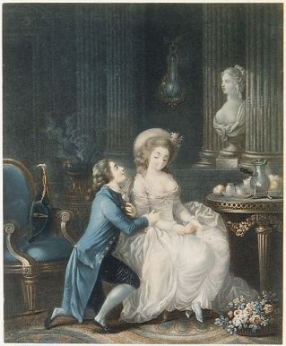 "Figure 2. ""The Proposal"" (1736-93) by Louis Marin Bonnet"