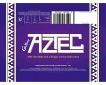 An Aztec chocolate bar, made by Cadbury