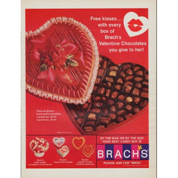 Brach's Valentines Candy Advertisement, 1967 (Candy Favorites)