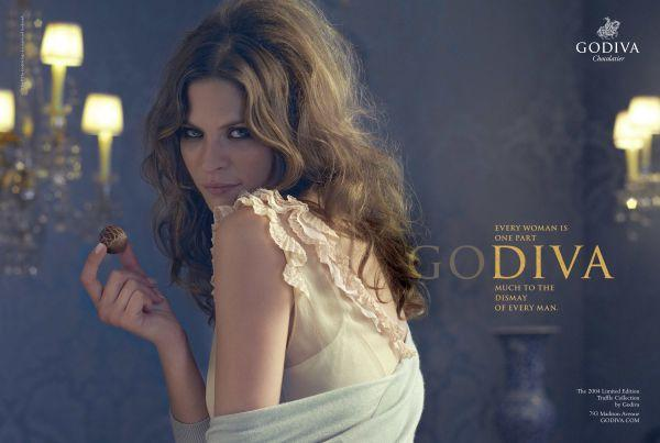"Advertisement from Godiva's ""GoDIVA"" campaign, 2004 (Coloribus)"