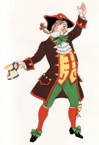 Gianduja, shown above, was a carnival character in Piedmont, and the namesake of Gianduja, the hazelnut-chocolate candy
