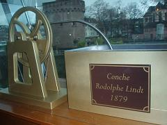 This is a model of Lindt's Conche, which was invented in 1879 to refine the texture and flavor of chocolate.