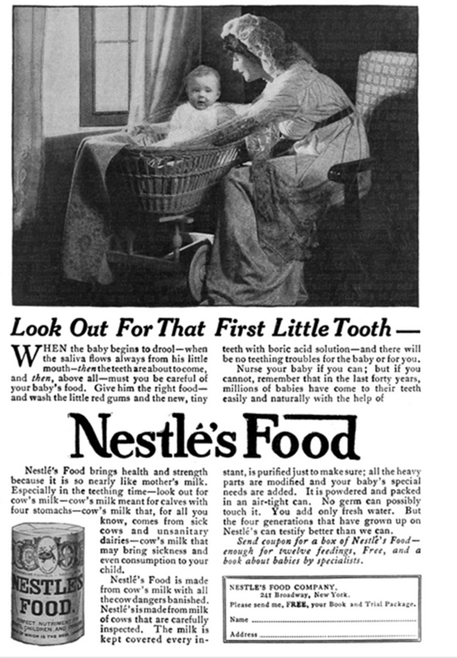Nestle Food Advertisement From 1915