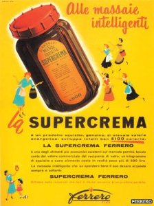 An early advertisement for Supercrema, the predecessor to today's Nutella (Mitzman 2014)