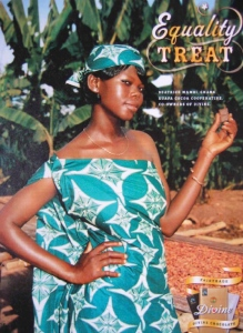"""Equality Treat"" portrays cacao farmer Beatrice Mambi as an attractive consumer with the means to purchase chocolate and other luxury goods, but the advertisement does not successfully transcend fundamental problems of the Western gaze."