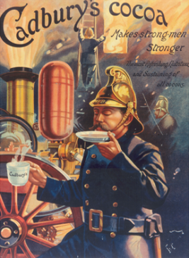 Cadbury's Cocoa poster and print ad circa 1900 https://www.cadbury.co.uk/the-story#1900-1920