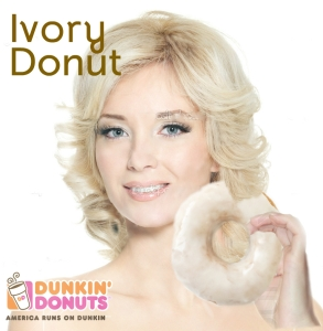 """Advertisement for the """"Ivory Donut"""""""