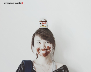 An advertisement for Nutella chocolate hazelnut spread that portrays the desires and experiences of the consumer.