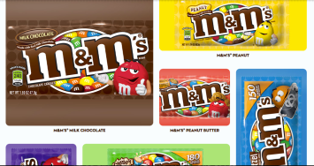 Different M&M flavors from their website- http://www.mms.com/#product