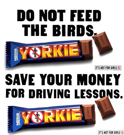 Nestlé's Yorkie Candy Bar Advertisement (2001)