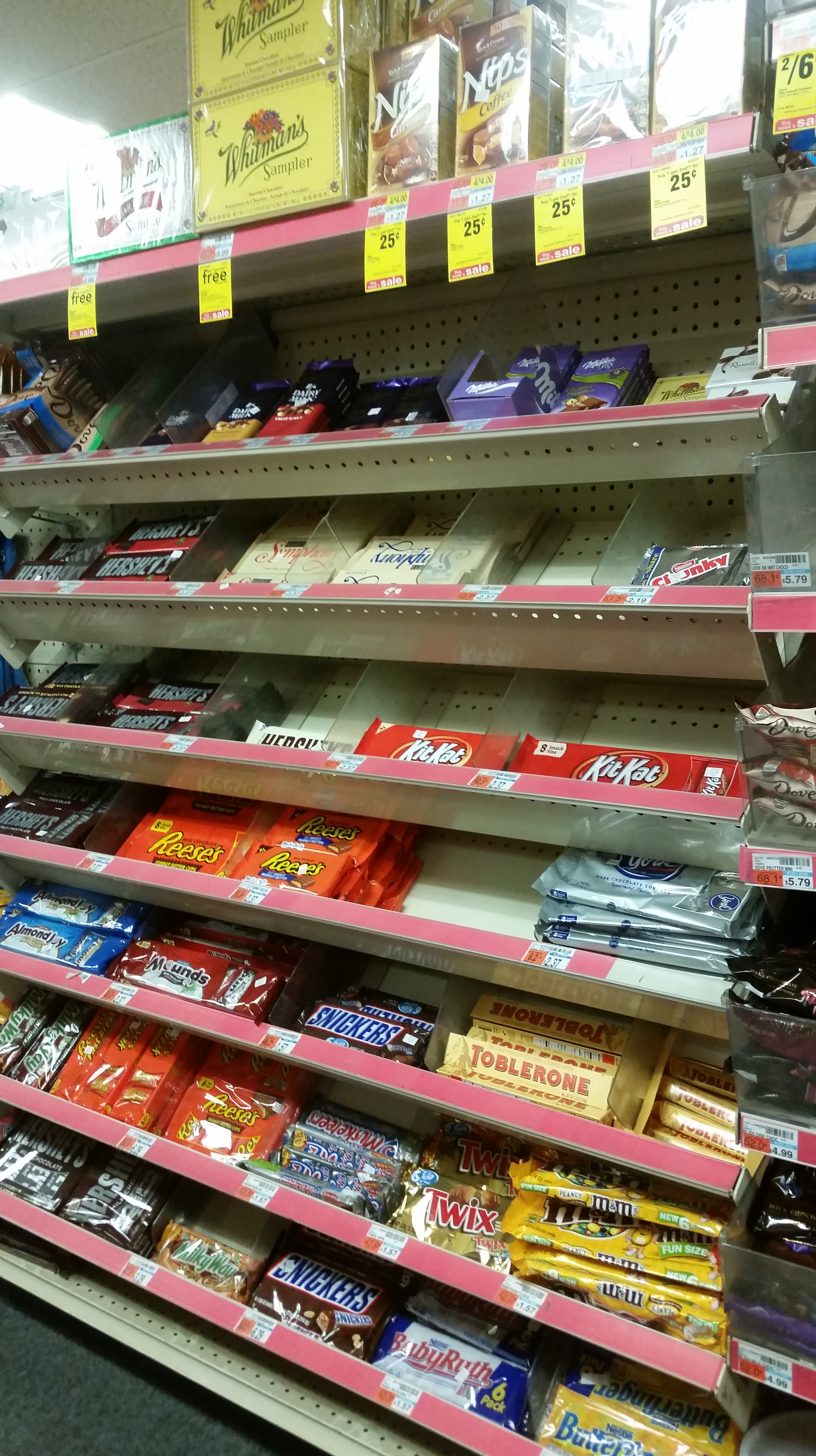 an analysis of the chocolate selection at cardullo s and cvs