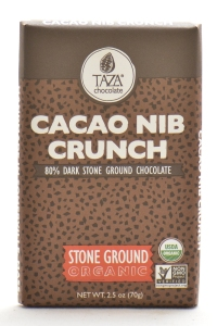 "Taza's ""Cacao Nib Crunch"" bar. $5.99"