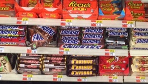 Chocolate on Shelves at CVS