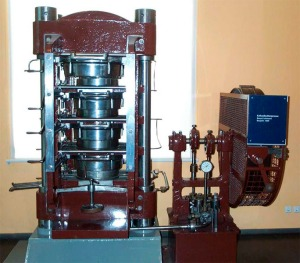 Van Houten's hydraulic press.