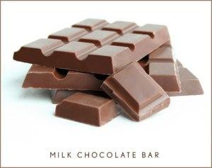 A delicious looking milk chocolate bar.