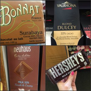 Figure 2: Cardullo's chocolate selection (left) vs. CVS's selection (right)