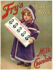 "Frys ""Five Boys"" Milk Chocolate Advertisement"