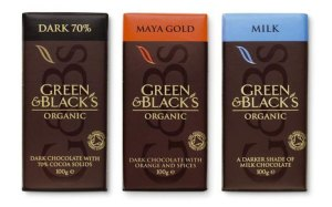 Green & Black's organic Chocolate bars.