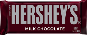 Hershey's Milk Chocolate bar - $1.25