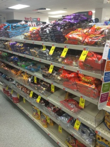 Mass-produced chocolate in CVS