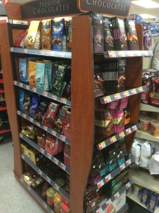"""Premium Chocolate"" display in CVS"