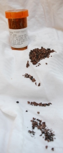 Cacao nibs are the dried cacao beans with the husk removed in a process called winnowing.