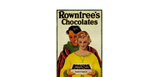 Rowntree chocolate advertisement of a couple