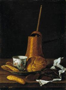 still life with a chocolate service