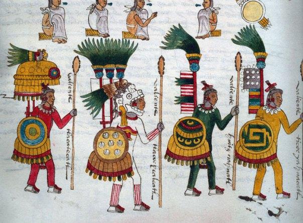 aztec warrior depiction