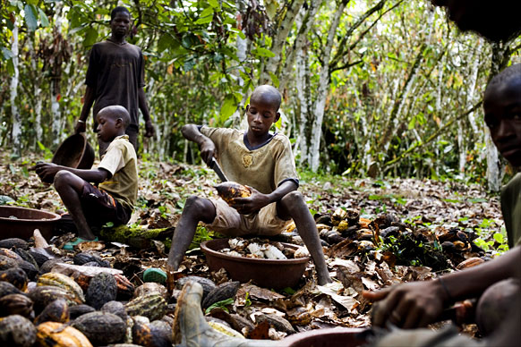 Chocolate Children Workers
