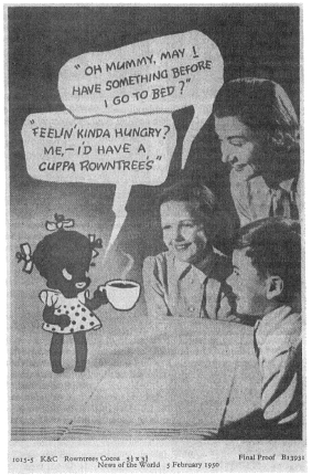 Rowntree's cocoa ad with Honeybunch