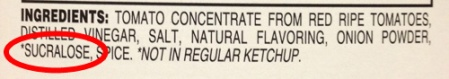 Annotated Ingredients of Reduced Sugar Tomato Ketchup