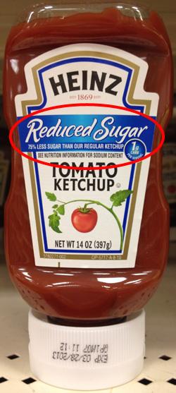 Annotated Reduced Sugar Tomato Ketchup