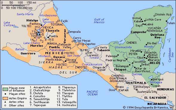 aztec-maya-map
