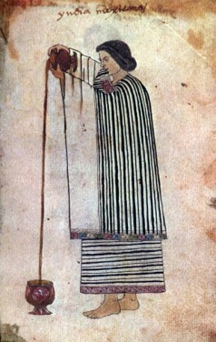 Aztec woman pouring