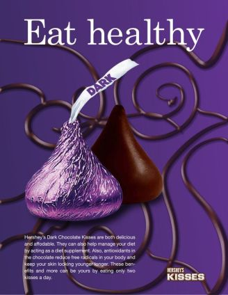 Hershey's Dark Chocolate Kiss Advertisement