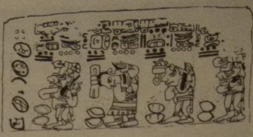 Maya Gods Bleeding Over Chocolate