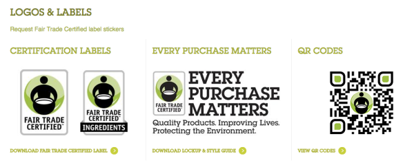Fair Trade logos from http://fairtradeusa.org/resources/logos-labels