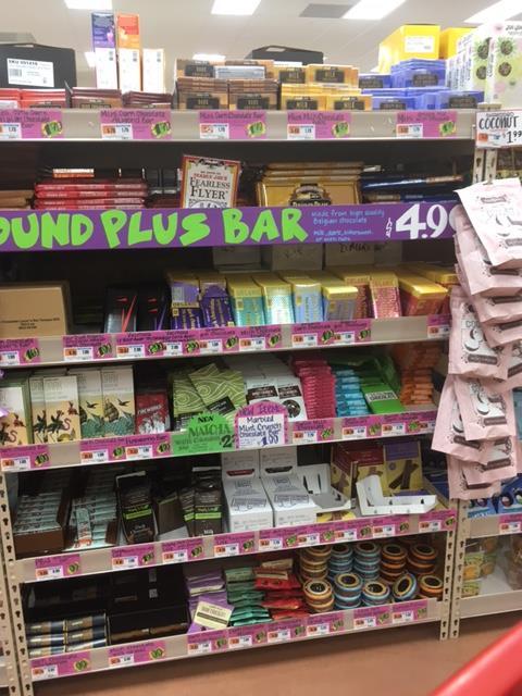 trader joe's chocolate shelves