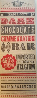Trader Joe's dark chocolate bar