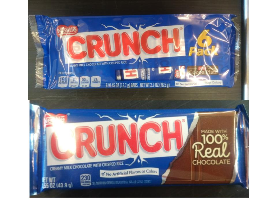 Crunch Value Pack vs. Normal Bar